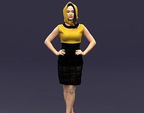 Yellow headscarf woman 0427 3D Print ready