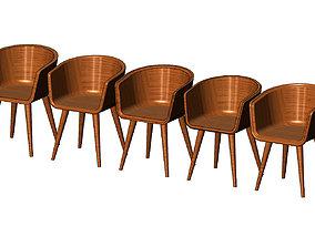 3D print model Miniature modern bentwood armchair 1