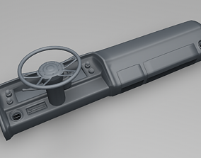 3D print model Dashboard with Steering wheel