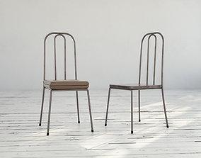 Brown Metal Chairs 3D