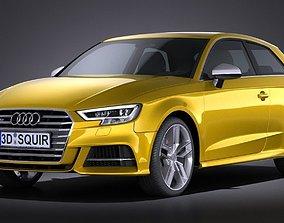 Audi S3 2017 3-door 3D model