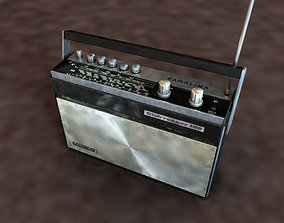 3D asset Vintage radio