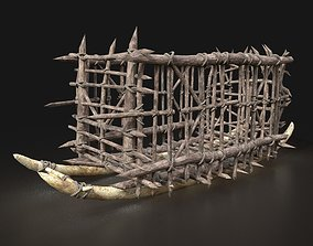 3D model Orc Cage Wagon Sleigh Sled Primal Rail Machine 1