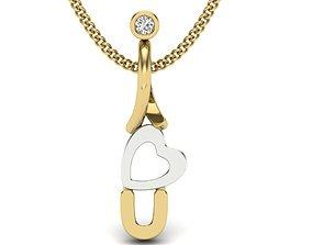 3D print model necklace Diamond Pendant