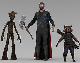 3D model Thor Infinity War