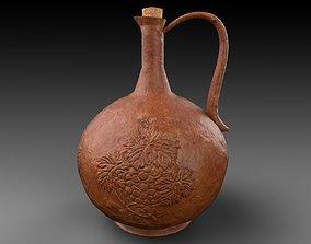 Terracotta Wine Jug v02 3D PBR