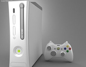 Microsoft X-Box 360 3D asset