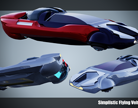 Simplistic Flying Vehicle - nr12 3D model