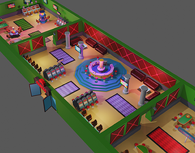 Casino pack 3D model game-ready