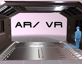 Tileable Space Corridor 3D model