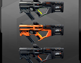 3D model SF Compact MachineGun AK4