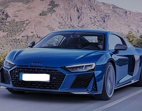 Audi R8 3D model rigged