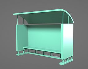 3D print model Bus Stop With Glass Proof