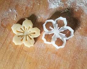 Cherry Blossom cookie cutter 3D print model