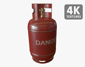 Gas Bottle 27L 3D model realtime
