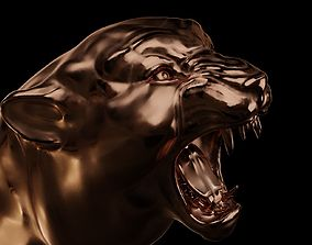 3D printable model Head of panther