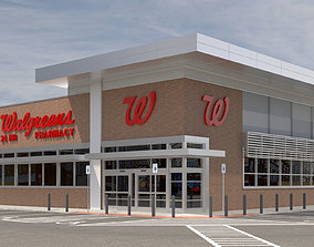 Retail-019 Walgreens with Site 3D model