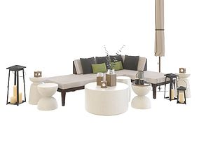 Crate and Barrel Elba Sectional 3D model