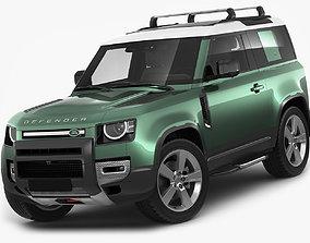 3D model Land Rover Defender 90 2020