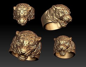 panthere 3D printable model Tiger ring