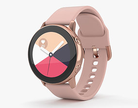 Samsung Galaxy Watch Active Rose Gold 3D
