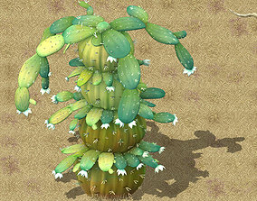 Cartoon version - blue dam mother cactus 3D