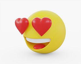 3D asset Emoji Love