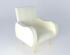 Chair WAVES beige Maisons du monde 3D model