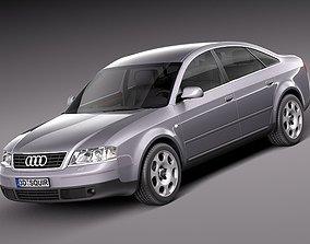 3D Audi A6 sedan 1997-2004
