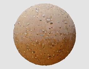 Beach Sand PBR Texture wet 3D