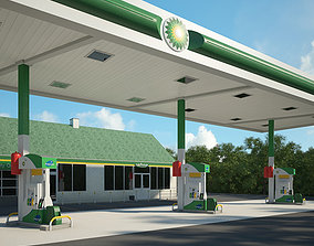 3D model BP gas station 001