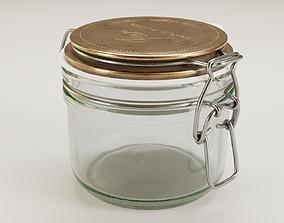 Mason jar 3D model bottle