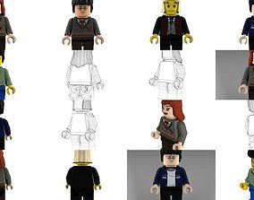3D Movie Characters Brick Minifigures 4