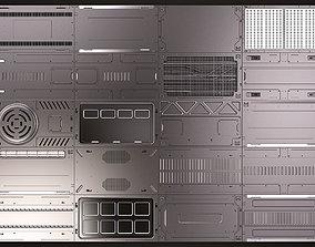 3D Sci Fi Panels KitBash 02
