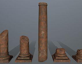 broken pillar 3D asset