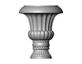 Decorative Vase and Urn with rope 3D printable model
