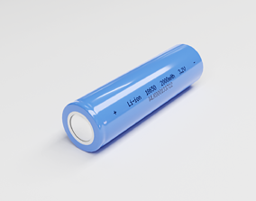 3D asset Lithium-ion cell 18650