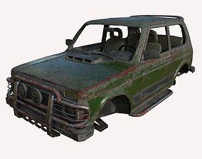 Abandoned jeep 03 3D