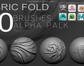 3D 20 Fabric Fold Brushes - Software list compatible