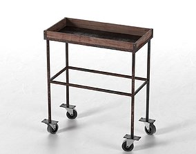 3D Vintage Trolley Table