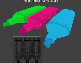 highlighter pens 3D