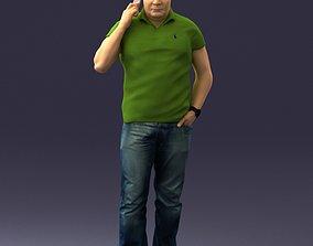 Man in green t-shirt 0041 3D Print Ready