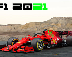 3D model F1 Ferrari SF21 Season 2021