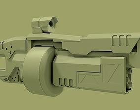 sci fi grenade launcher 3D