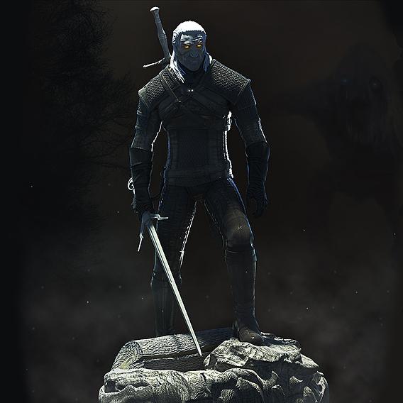 Geralt the Witcher 3D print model