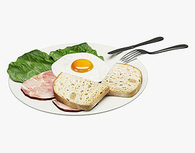 Breakfast Food 001 3D asset realtime