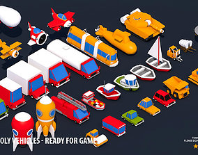3D asset 32 Low Poly Vehicles - Ready for Games