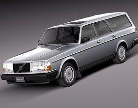 3D model Volvo 240 Estate EU 1993