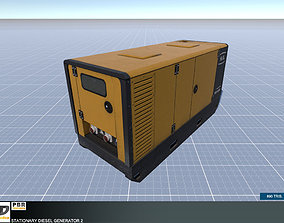 3D model Stationary Diesel Generator 2