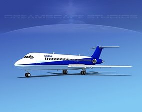 3D Douglas DC-9-30 Ariana Afghan Airlines